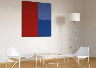 CARUSO Silente Wandpaneel Rood Blauw